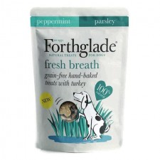Forthglade Fresh Breath Grain Free Treats Turkey Peppermint And Parsley 150g