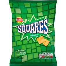Walkers Squares Cheese And Onion 27.5g