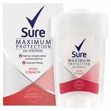 Sure Maximum Protection Sport Strength Cream Antiperspirant Deodorant 45Ml