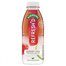 Robinsons Refreshd No Added Sugar Raspberry and Apple Spring Water with Real Fruit 500ml