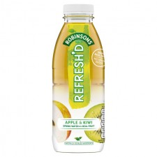 Robinsons Refreshd No Added Sugar Apple and Kiwi Spring Water with Real Fruit 500ml