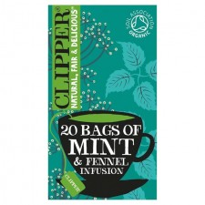 Clipper Organic After Dinner Mints Double Mint and Fennel Infusion 20 Teabags