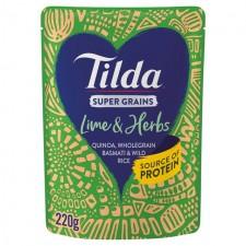 Tilda Super Grains Lime and Herb 220g