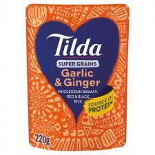 Tilda Super Grains Garlic and Ginger 220g