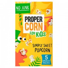 Propercorn for Kids Simply Sweet Popcorn 5 Pack