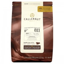 Callebaut Finest Belgian Chocolate Dark Callets From Roasted Whole Cocoa Beans 2.5kg