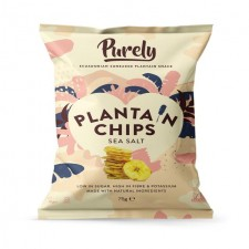 Purely Plantain Chips Sea Salt 75g
