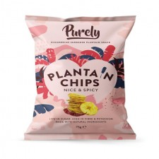 Purely Plantain Chips Nice and Spicy 75g