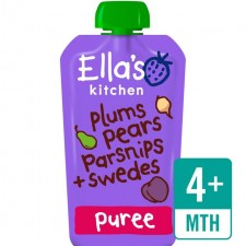 Ellas Kitchen Organic Plums Pears Parsnip and Swede 120g 4 Months