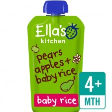 Ellas Kitchen Organic Pear and Apple Baby Rice 120g 4 Month
