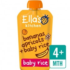 Ellas Kitchen Organic Bananas Apricots and Baby Rice120g 4 Months