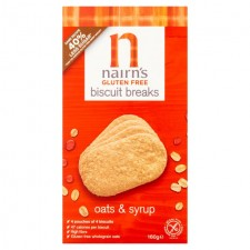 Nairns Gluten Free Oats and Syrup Breakfast Biscuit 160g