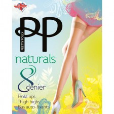 Pretty Polly Naturals 8 Denier Hold Ups Barely There