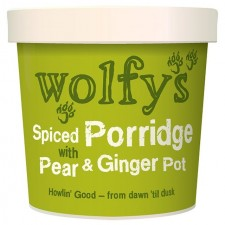 Wolfys Spiced Porridge Pot with Pear and Ginger 102g