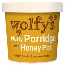Wolfys Nutty Porridge Pot with Honey 90g