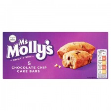 Ms Mollys Chocolate Chip Cake Bars 5 Pack