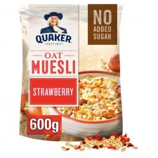 Quaker Oat Muesli with Strawberry 600g