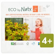 Naty Eco Nappies Size 4plus x 24 per pack
