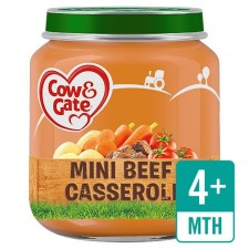 Cow And Gate 4 Months Mini Beef Casserole 125G
