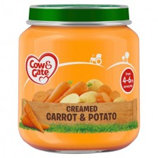 Cow And Gate 4 Months Creamy Carrot And Potato 125G