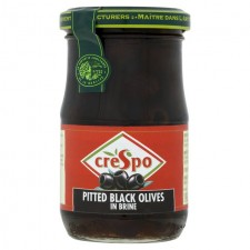 Crespo Pitted Black Olives in Brine 354g