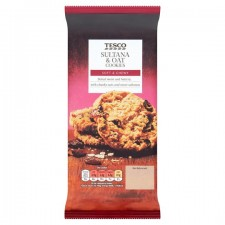 Tesco Sultana And Oat Cookies 200g