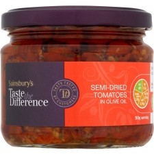 Sainsburys Taste the Difference Semi Dried Tomatoes in Olive Oil 290g
