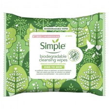 Simple Biodegradable Facial Wipes 20 per pack