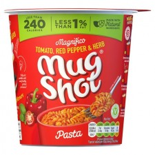 Mug Shot On The Go Tomato Ped Pepper And Herb Pasta Snack Pot 64g