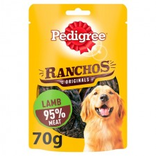Pedigree Ranchos Dog Treat Original Lamb 70g