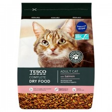 Tesco Complete Dry Food with Salmon for Adult Cats 1Kg