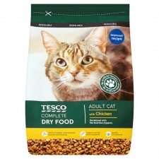 Tesco Complete Dry Food with Chicken for Adult Cats 1Kg