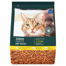 Tesco Complete Dry Food with Chicken for Adult Cats 3Kg