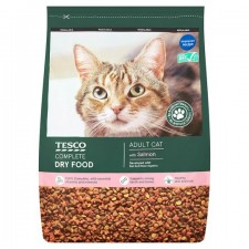 Tesco Complete Dry Food with Salmon for Adult Cats 3Kg