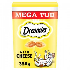 Dreamies Mega Tub Cat Treats with Cheese 350g