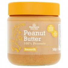 Morrisons 100% Smooth Peanut Butter 340g
