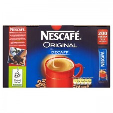 Catering Size Nescafe Original Decaffeinated One Cup Stick 200s
