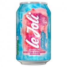 Le Joli Sparkling Scottish Raspberry and Rhubarb Water 330ml Can