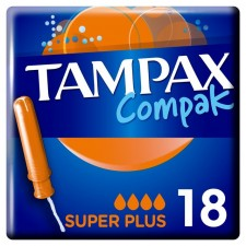 Tampax Compak with Applicator Super Plus 18