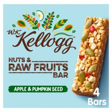 Kelloggs Nuts and Raw Fruits Bar Apple and Pumpkin Seed 4 Pack