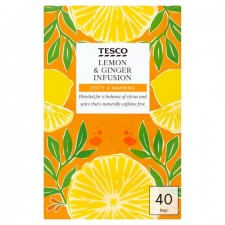 Tesco Lemon And Ginger 40 Teabags