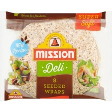 Mission Deli Seeded Tortilla Wraps 8 Pack