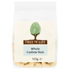 Tree of Life Whole Cashew Nuts 125g