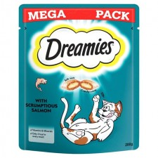 Dreamies Salmon Cat Treat Big Pack 200g