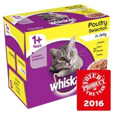 Whiskas Poultry Selection in Jelly 12 x 100g