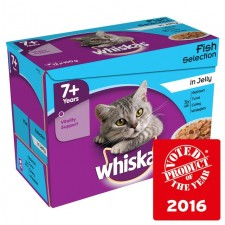 Whiskas Pouch Senior Fish in Jelly 12 x 100g