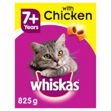 Whiskas Complete Dry Cat Food Senior with Chicken 825g