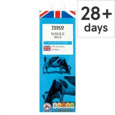 Tesco British Whole Longlife UHT Milk 1L