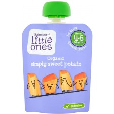 Sainsburys Little Ones Organic Simply Sweet Potato 4mth+ 70g