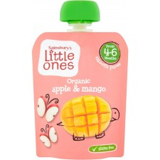Sainsburys Little Ones Organic Apple and Mango 4mth+ 70g